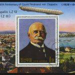 "1980. Северная Корея. Блок ""Пионеры авиации. Ferdinand Graf Zeppelin"", 75 x 105 mm, (//) [KPD2045] 2"