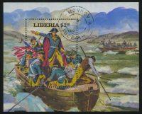 """1981. Либерия. Блок """"Президенты Соединенных Штатов Америки. Джордж Вашингтон"""", 102 x 82 mm, (//), ** [LR1280] 3"""