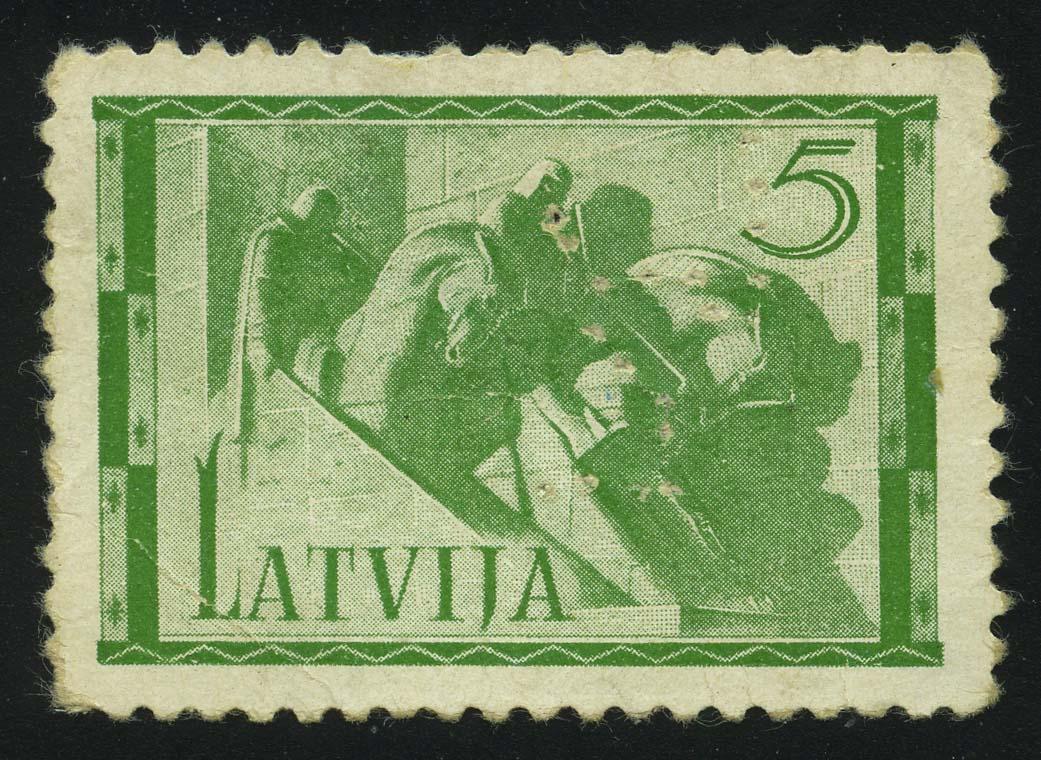 "1937. Латвия. Серия ""Монументы"", 1/5, перфин, * [LV199_1] 1"