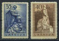 """1937. Латвия. Серия """"Мемориалы"""", 2/2, ВЗ, ** [LV203‑204] 7"""