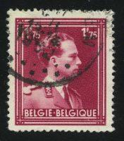 """1950. Бельгия. Серия """"Король Леопольд"""", 1/2, (•) [BE880] 12"""